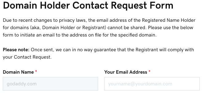 5 Ways to Contact the Owner of a GoDaddy-Registered Domain After the CCPA