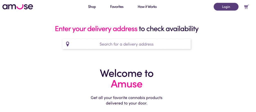 Cannabis Delivery Company Amuse Launches on Amuse.com